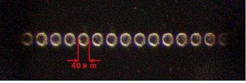 显微镜下观察不锈钢样品图片